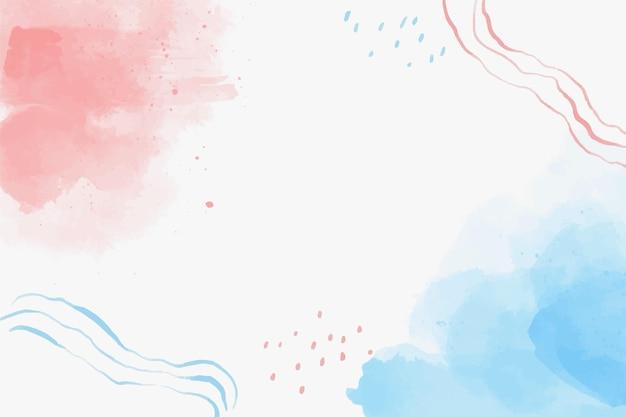 Fundo de formas em aquarela de azul e vermelho