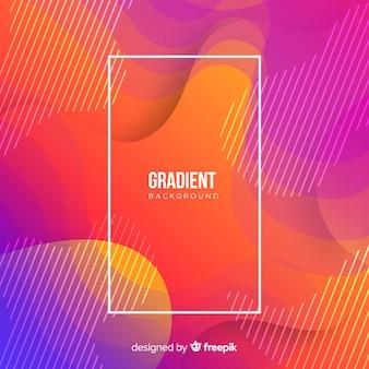Fundo de formas fluidas coloridas gradiente