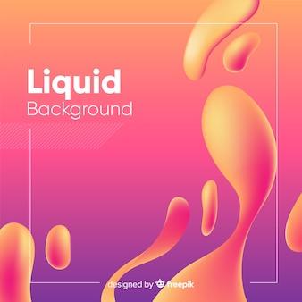 Fundo de formas fluidas de gradiente