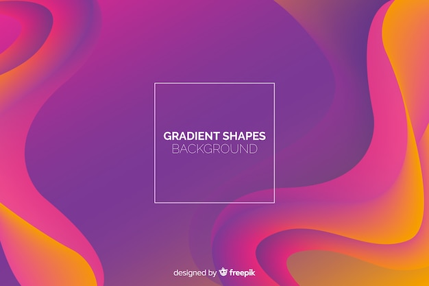 Fundo de formas fluidas geométricas
