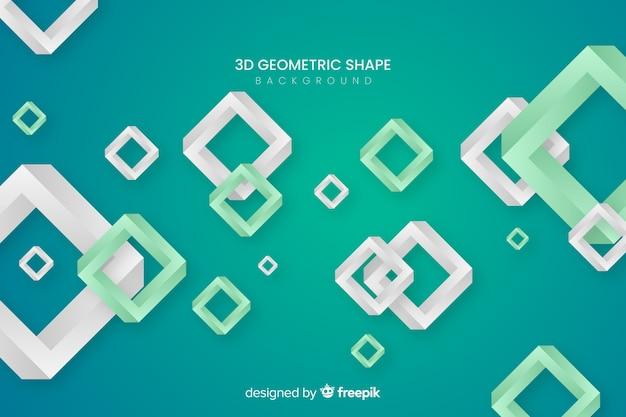 Fundo de formas geométricas 3d