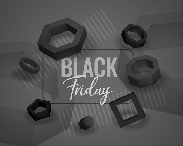 Fundo de formas geométricas abstratas de sexta-feira negra