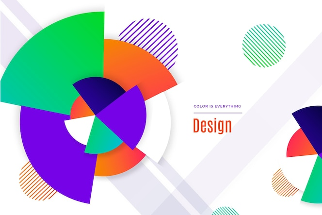 Fundo de formas geométricas abstratas em gradiente