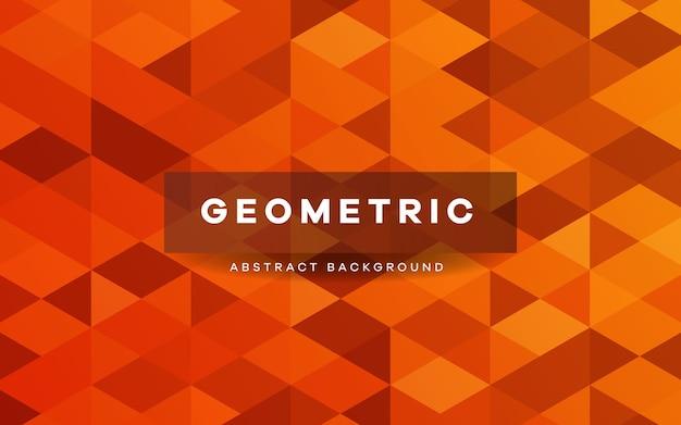 Fundo de formas geométricas abstratas em laranja