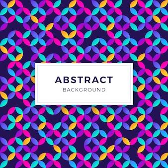 Fundo de formas geométricas abstratas gradiente colorido