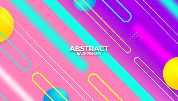 Fundo de formas geométricas coloridas abstratas modernas