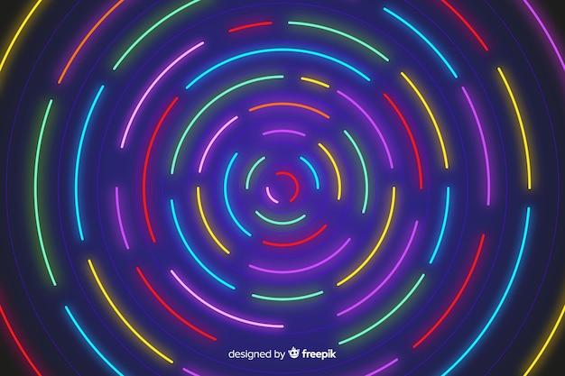 Fundo de formas geométricas coloridas de néon