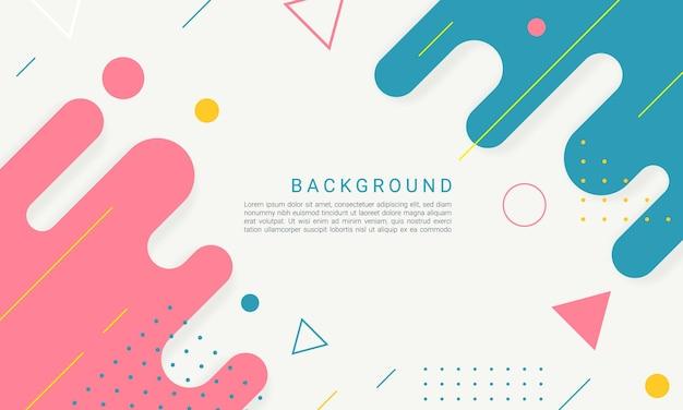 Fundo de formas geométricas coloridas planas abstratas
