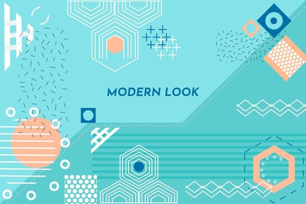 Fundo de formas geométricas de aparência moderna