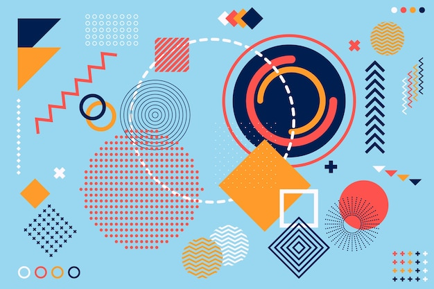 Fundo de formas geométricas de design plano