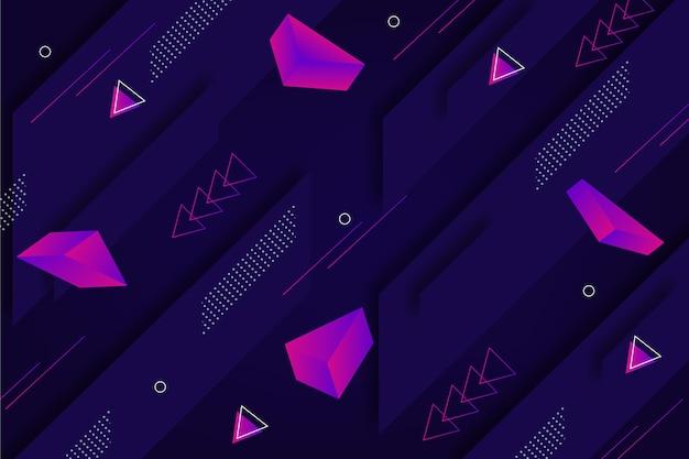 Fundo de formas geométricas dinâmicas