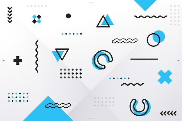 Fundo de formas geométricas em design plano
