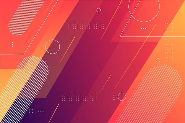Fundo de formas geométricas em gradiente