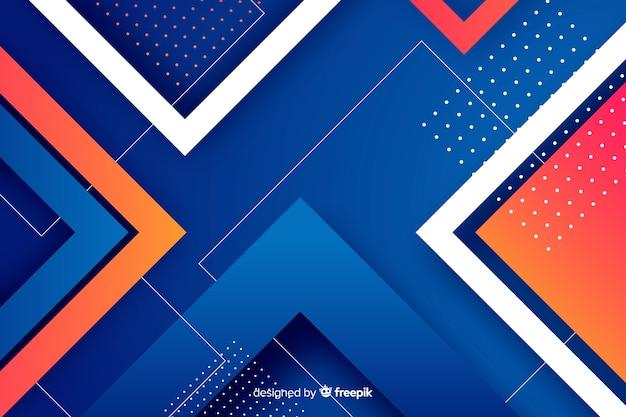 Fundo de formas geométricas gradiente colorido