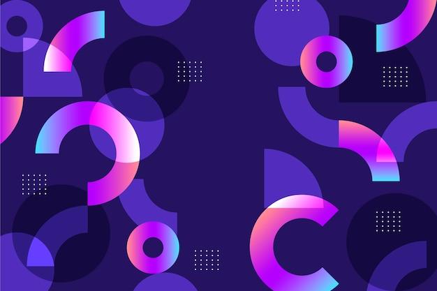 Fundo de formas geométricas gradientes