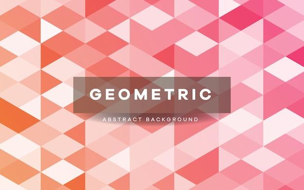 Fundo de formas geométricas rosa abstrato