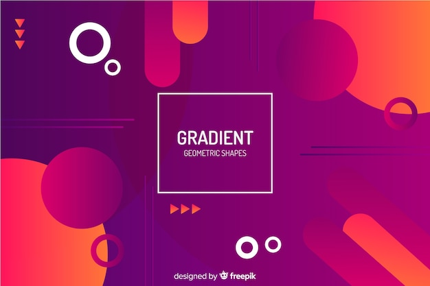 Fundo de formas geométricas vermelho gradiente