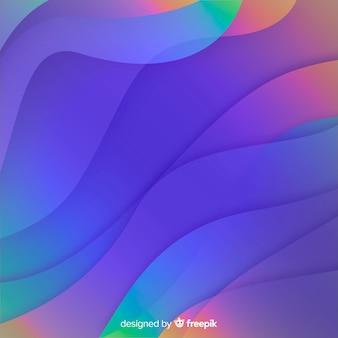 Fundo de formas gradientes dinâmicas