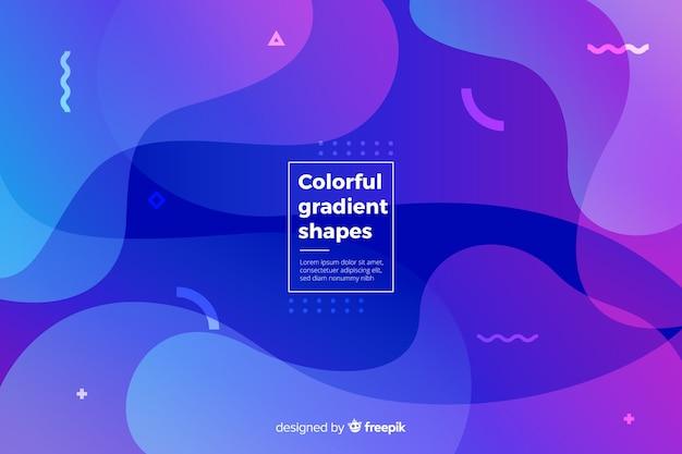 Fundo de formas líquidas coloridas