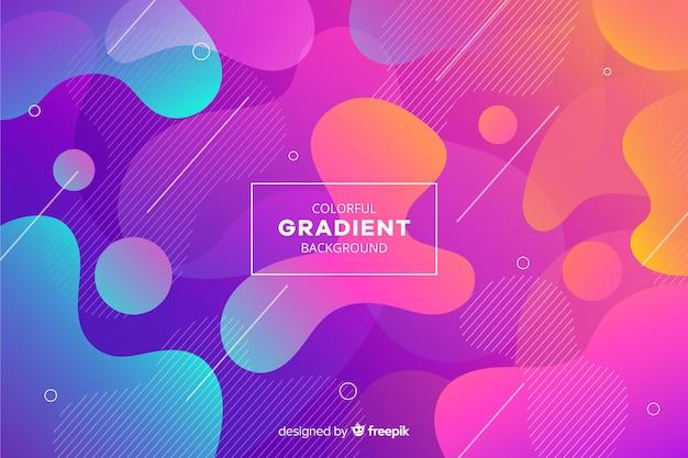 Fundo de formas líquidas gradiente