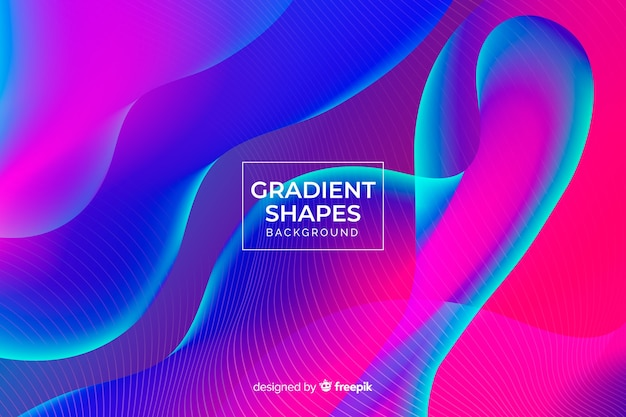 Fundo de formas onduladas coloridas duotone
