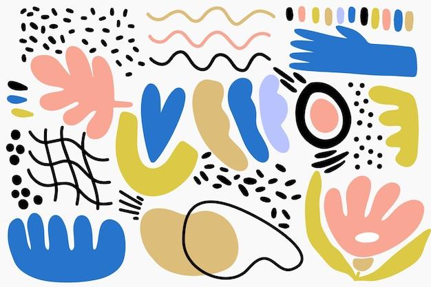 Fundo de formas orgânicas abstratas de mão desenhada