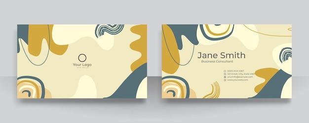 Fundo de formas orgânicas florais abstratas para cartão de visita. ilustração em vetor desenhada mão moderna contemporânea.