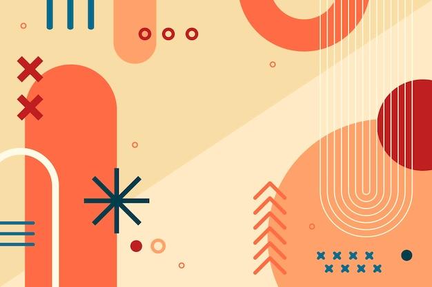 Fundo de formas redondas abstratas de design plano
