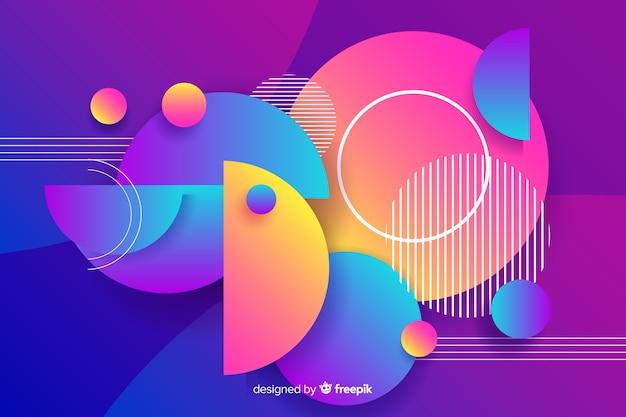 Fundo de formas redondas geométricas gradiente