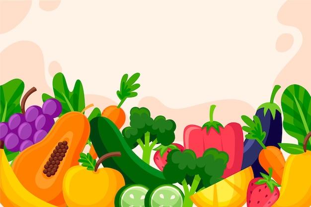 Fundo de frutas e legumes