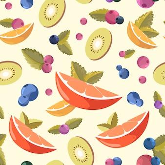 Fundo de frutas frescas