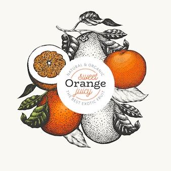 Fundo de frutas laranja