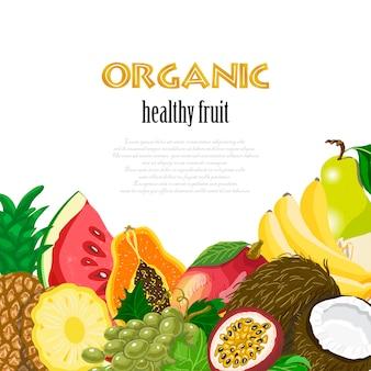Fundo de frutas saudáveis orgânicas
