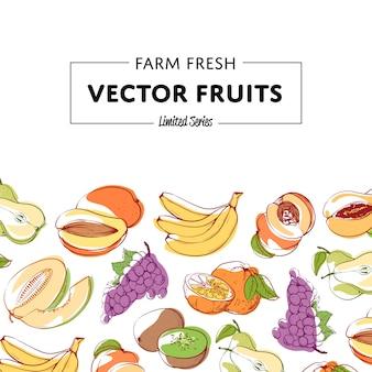 Fundo de frutas tropicais frescas