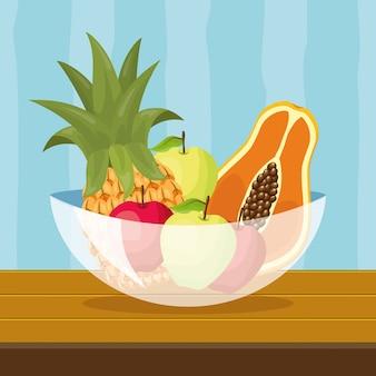 Fundo de frutas tropicais
