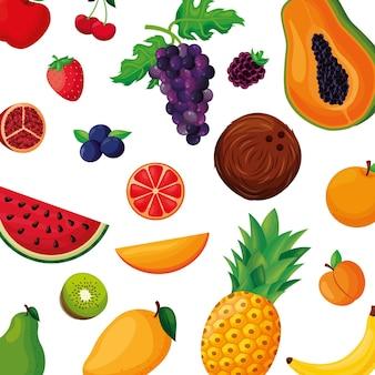 Fundo de frutas