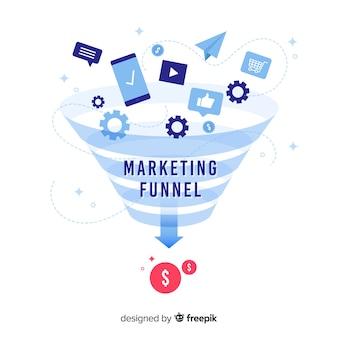 Fundo de funil de marketing