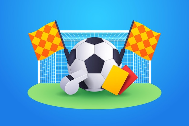 Fundo de futebol abstrato gradiente