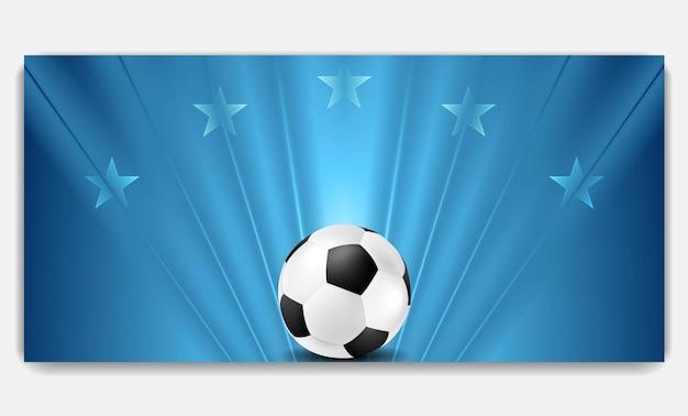 Fundo de futebol azul abstrato brilhante. desenho vetorial