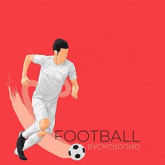 Fundo de futebol de futebol