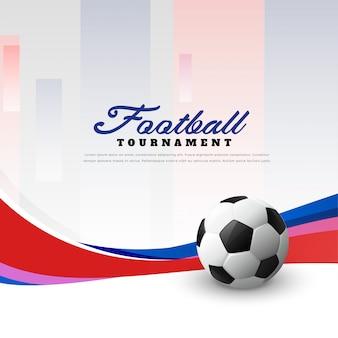Fundo de futebol do campeonato de futebol com onda