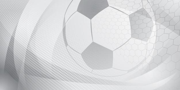Fundo de futebol ou futebol com bola grande em cores cinza