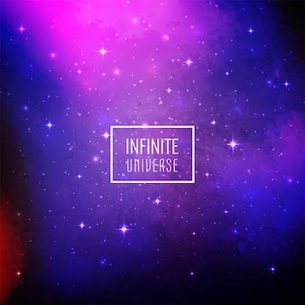 Fundo de galáxia abstrata espaço brilhante