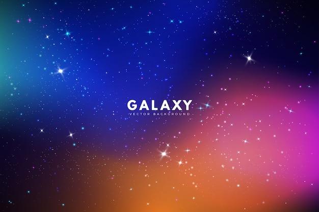 Fundo de galáxia com cores diferentes