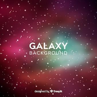 Fundo de galáxia com estilo colorido