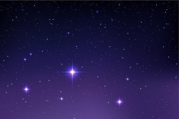 Fundo de galáxia com estrelas realistas