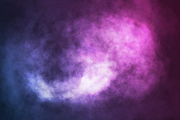 Fundo de galáxia cósmica realista de vetor
