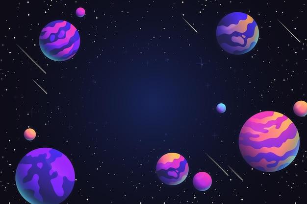 Fundo de galáxia de estilo gradiente