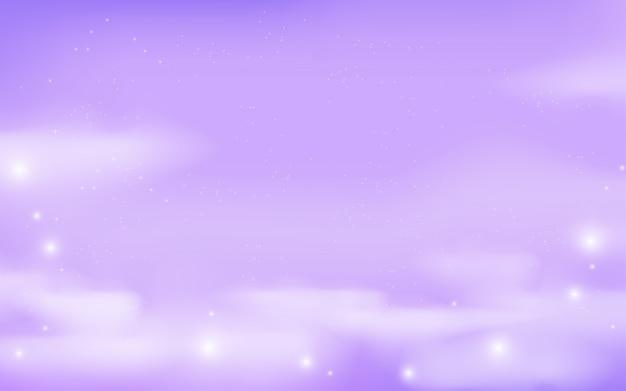 Fundo de galáxia de fantasia em cores lilás