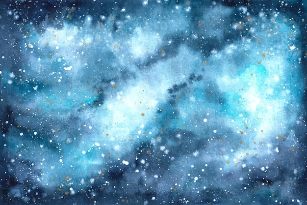 Fundo de galáxia em aquarela pintado à mão